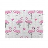 Pink Flamingo Bird Love Heart Wooden Puzzles,Fun Puzzles,Decompression puzzles family leisure,500PCS,Wooden.