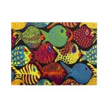 Kaffe Fassett Fish Shoal Green Wooden Puzzles,Fun Puzzles,Decompression puzzles family leisure,500PCS,Wooden.