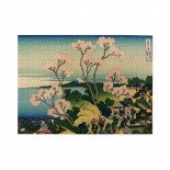 Hokusai Japan Ink Cherry Blossom Mount Fuji Wooden Puzzles,Fun Puzzles,Decompression puzzles family leisure,500PCS,Wooden.