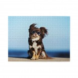 Funny Chihuahua Dog Wooden Puzzles,Fun Puzzles,Decompression puzzles family leisure,500PCS,Wooden.
