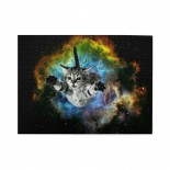 Cat Flying Through Space Wooden Puzzles,Fun Puzzles,Decompression puzzles family entertainment,500PCS,Wooden.