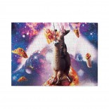 Cat Riding On Surfing Llama Unicorn Wooden Puzzles,Fun Puzzles,Decompression puzzles family entertainment,500PCS,Wooden.