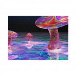 Colorful Trippy Mushroom Psychedelic Art Wooden Puzzles,Fun Puzzles,Decompression puzzles family entertainment,500PCS,Wooden.