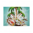 Cool Coconut Tree Wooden Puzzles,Fun Puzzles,Decompression puzzles family leisure,500PCS,Wooden.