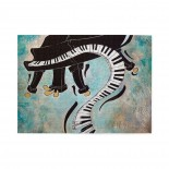 Cool Piano Music Keyboard Painting Wooden Puzzles,Fun Puzzles,Decompression puzzles family leisure,500PCS,Wooden.