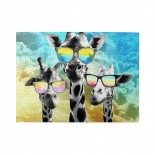 Crazy Cool Giraffe Wooden Puzzles,Fun Puzzles,Decompression puzzles family entertainment,500PCS,Wooden.