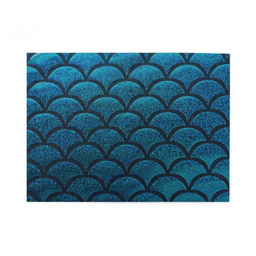 Sea Blue Mermaid Scales Wooden Puzzles,Fun Puzzles,Decompression puzzles family leisure,500PCS,Wooden.