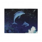Sea Dolphin In Space Wooden Puzzles,Fun Puzzles,Decompression puzzles family leisure,500PCS,Wooden.