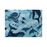 Shark Whale Octopus Dolphin Wooden Puzzles,Fun Puzzles,Decompression puzzles family leisure,500PCS,Wooden.